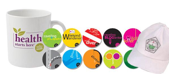 Pin, Mug & Topi